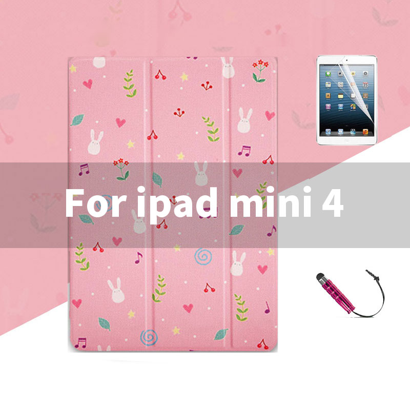 ipad mini 4 Lovely pink pattern case wit 3stand for iPad 2,3,4, Mini 1,2,3,4, Air 1,2, 2018, 2017,