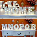 """16cm 6.2"""" White Wooden Letter LED Marquee Sign Alphabet Light Indoor Wall Decoration Light Up Night Light Drop Shipping"""