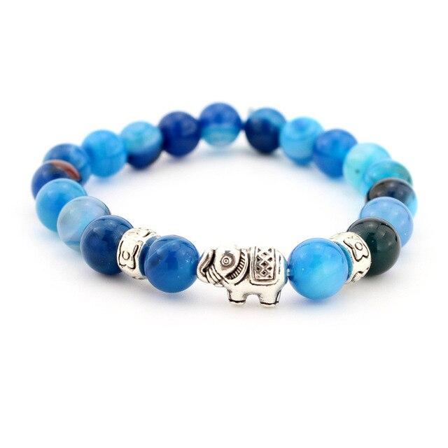 Natural Stone Bead Buddha Bracelets  For Women Men Jewelry 3