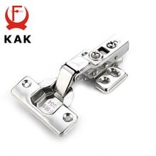 KAK серии C петли двери из нержавеющей стали гидравлические петли Буфер Заслонки мягкое закрытие для шкафа шкаф мебельная фурнитура