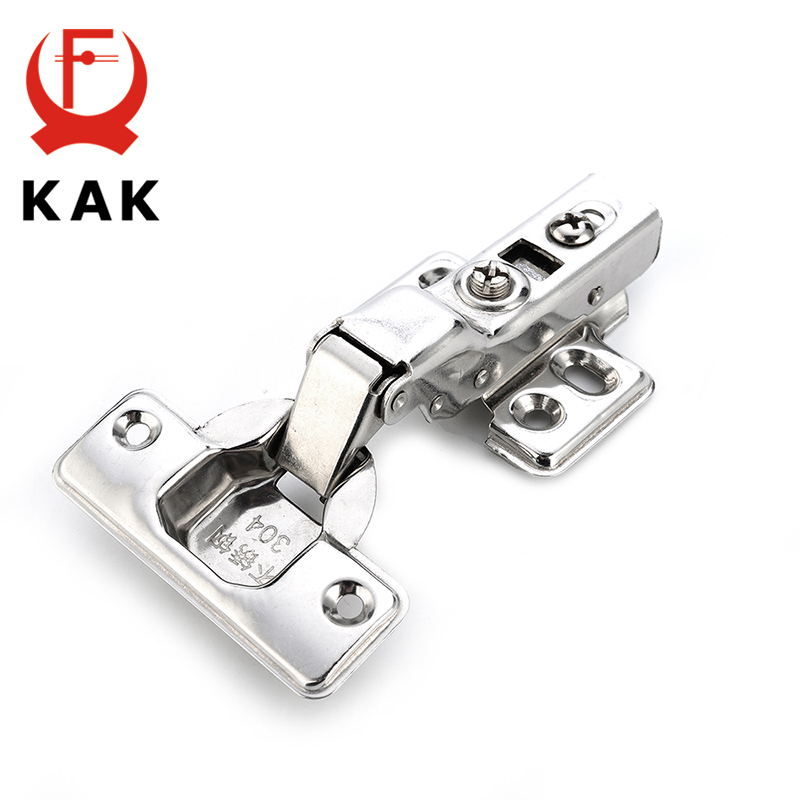 KAK C Series Hinge Stainless Steel Door Hydraulic Hinges Damper Buffer Soft Close For Cabinet Cupboard Furniture Hardware серьги топаз сhantal серьги топаз