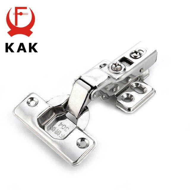 KAK Série C Porta de Aço Inoxidável Da Dobradiça Hidráulica Amortecedor Macio Perto Dobradiças Para Gabinete Armário Ferragem da Mobília