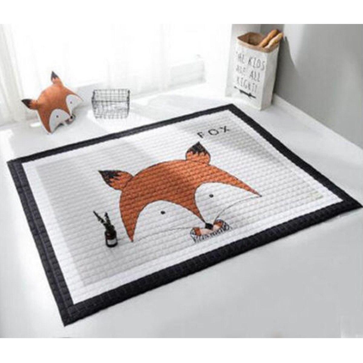 195x145CM bébé enfants tapis de jeu tapis de sol ramper couverture grand doux Rectangle coton tapis Style moderne tapis de sol