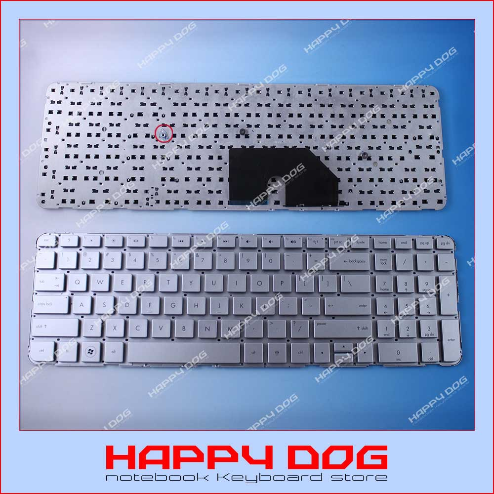 Brand New US Silver Laptop keyboard For HP Compaq DV6-6000 DV6-6100 DV6-6200 DV6-6090 90.4RH07.L01 SG-48900-XUA