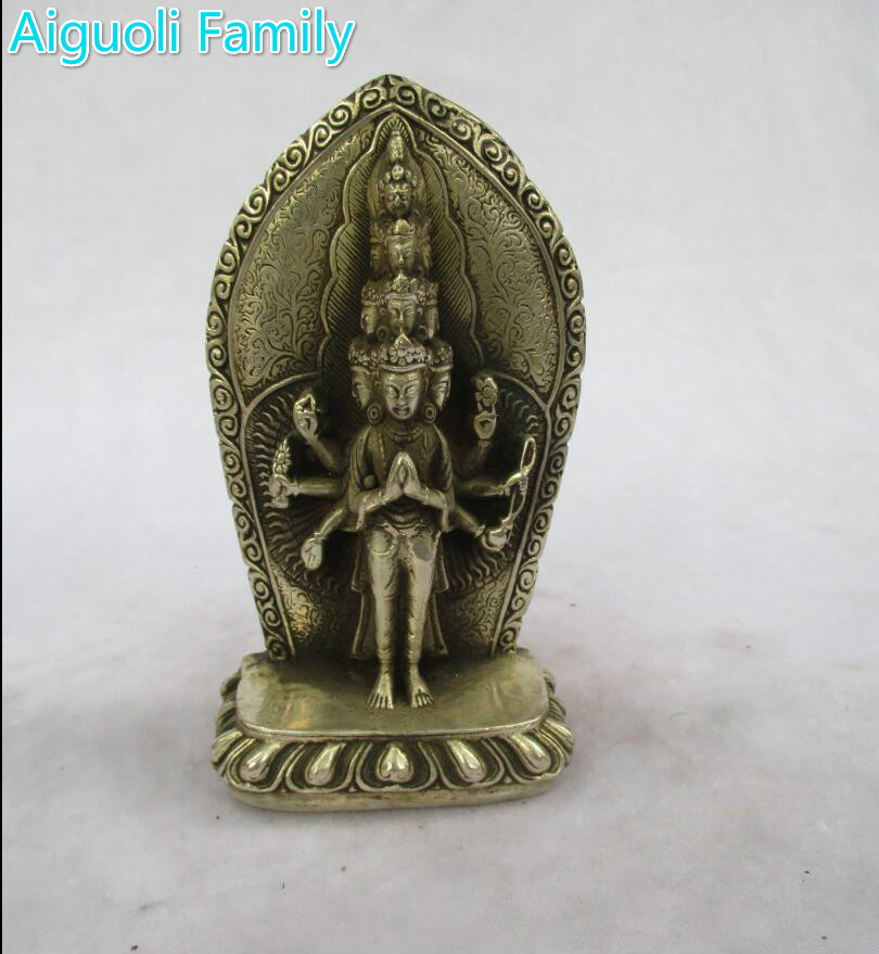 Antique antiques Collectible Decorated Old Handwork Tibet Silver Carved More Hand Buddha Statue/ Sculpture A9655Antique antiques Collectible Decorated Old Handwork Tibet Silver Carved More Hand Buddha Statue/ Sculpture A9655