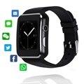 X6 Bluetooth Смарт часы спортивные Шагомер Smartwatch с камерой поддержка SIM TF карта Whatsapp Facebook для мобильного телефона