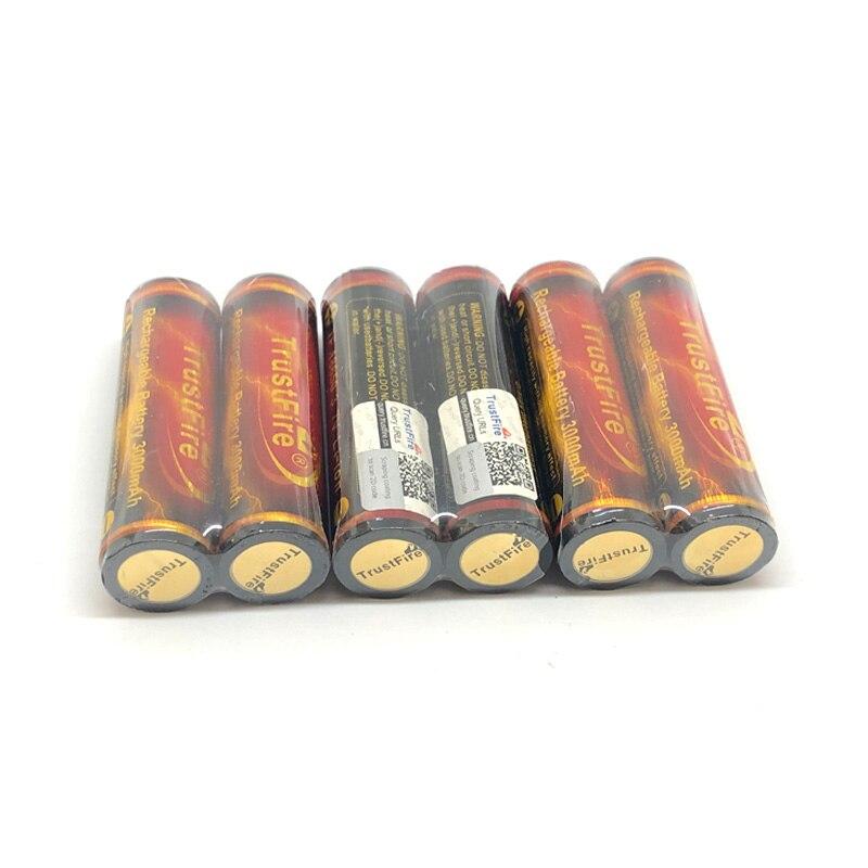 En gros TrustFire protégé 18650 batterie 3.7 V 3000 mAh par caméra torche lampe de poche 18650 Batteries rechargeables avec PCB