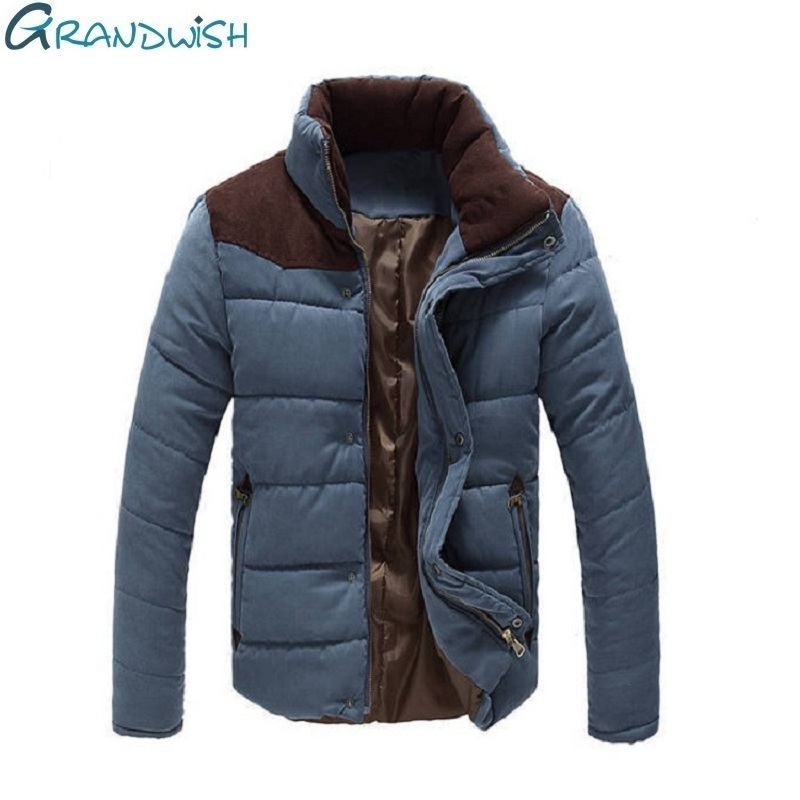 Grandwish Winter Mens Thicken Parka Casual Outwear Jackets For Men Plus Size 4XL Drop Shipping Mens Cotton Coat And Jacket,ZA088