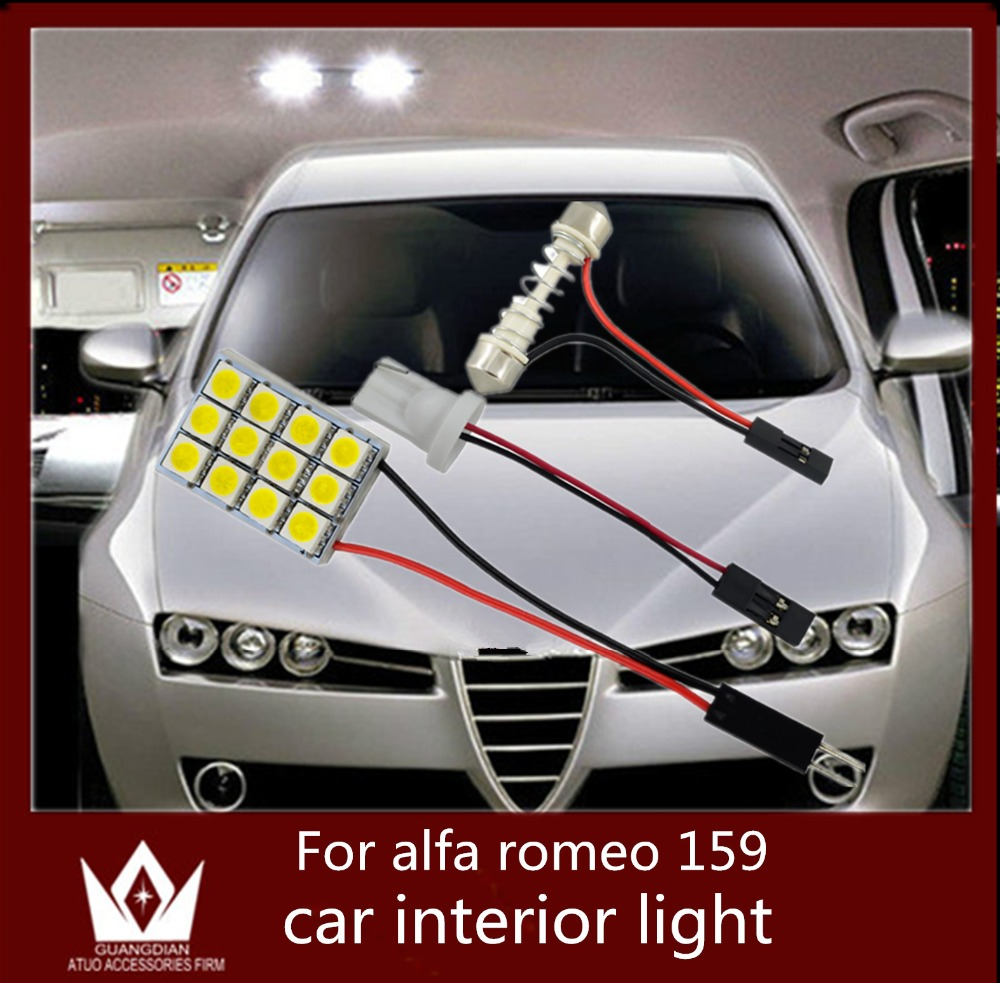 GuangDian 6pcs auto light Interior Roof bulb Dome Panel Read indoor led Trunk Light t10 adjustable For Alfa Romeo 159 2004-2011 for volkswagen passat b6 b7 b8 led interior boot trunk luggage compartment light bulb
