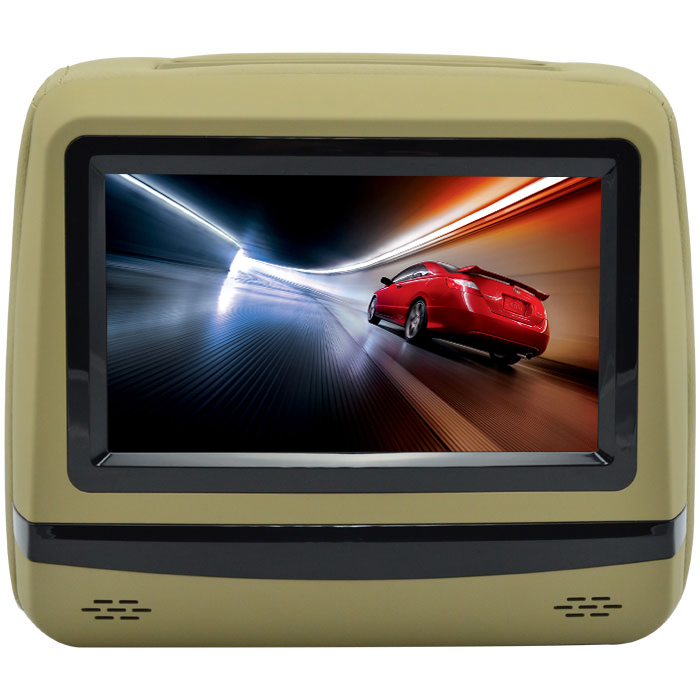For LSQ STAR 7 inch headrest DVD player Monitor with touch buttons SD USB 3G dvd