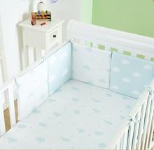 Fruits Plant Newborn Baby Bumpers Sest 100%Cotton Comfortable Infant Crib Bumper Cartoon Bed Bedding Set Safe Around Baby Unisex