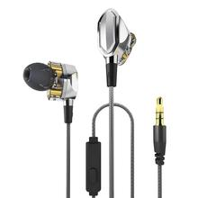 a88a27315c63d3 Dual Dynamic Drivers In-ear Earphones Wired Earphones Hifi Bass Stereo Noise  Cancelling Headsets With