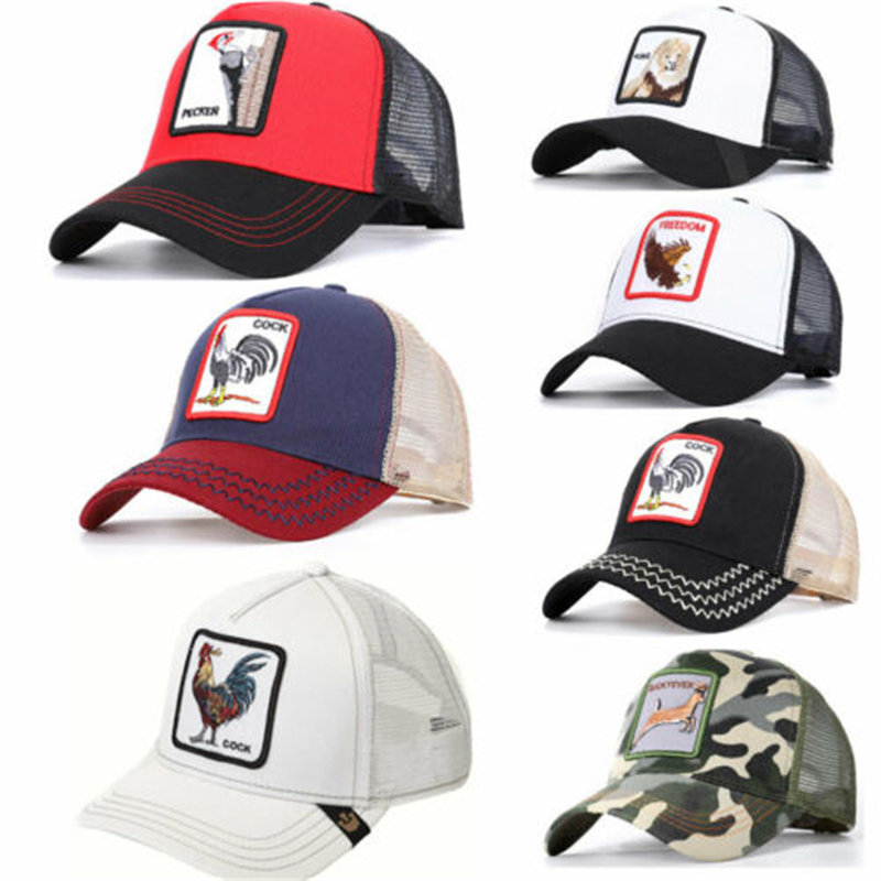 2019 New Goorin Bros Animal Print Cap Women Men Unisex Baseball Cap Mesh Summmer Trucker Tiger Hat Woodpecker Lion Snapback(China)