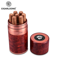 Cigar tube cigarloong travel portable cigar moisturizing thermometer device 7