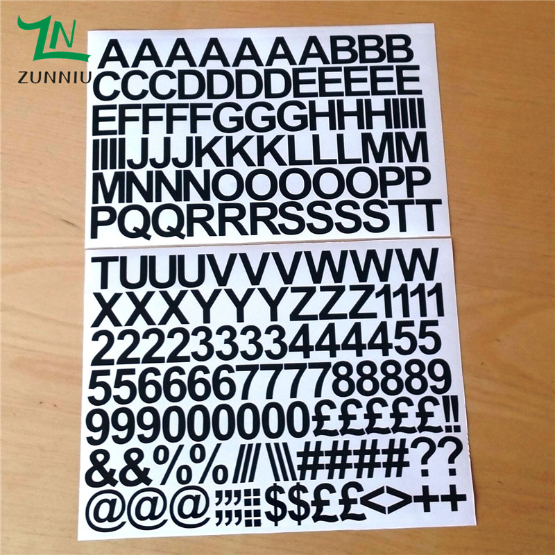 T07066 eco friendly 2cm self adhesive vinyl sticker for Self adhesive house numbers and letters