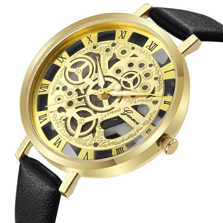 Relogio Feminino New Women Watches Bracelet Gold Roman Number Dial Ultra-thin Lady Leather Wrist Watch Reloj Mujer Drop Shipping