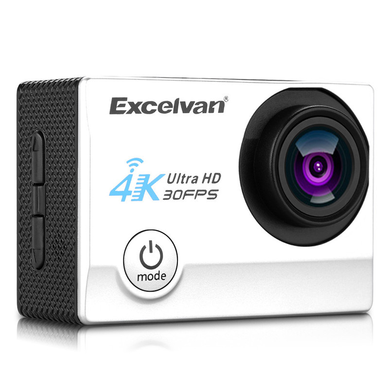Action Camera 4K Excelvan Q8 30FPS 16MP WiFi H.264 30m Waterproof 170 Wide Lens Action DV Sports Camera сефер геурых