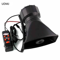 12V 100W Annunciator Police Siren 2 In1 5 Tone Alarm Siren Horn Pa System Megaphone With