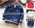 Novo 2013 primavera outono roupas de bebê fresco menino camisola de malha all jogo com decote em v pulôver de tricô crianças camisa do bebê outerwear
