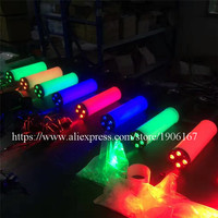 New Design RGB Colorful Handheld Led Co2 Gun Cryo LED Co2 Jet Machine Pistol Special Effects CO2 Cannon Guns With Gas Hose