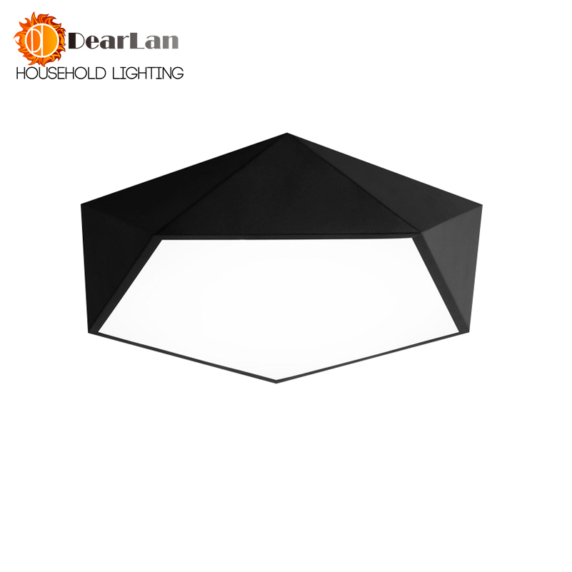 Led Diamond Black/White Ceiling Lamp Child Room Light LED Lamps Geometric Led Foyer Lamp For Bedroom Free Shipping(CF-50) noosion modern led ceiling lamp for bedroom room black and white color with crystal plafon techo iluminacion lustre de plafond
