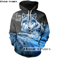 PLstar Cosmos 2018 New Fshion Autumn 3d Hoodies Mens Women Sweatshirts Animal Wolf Print Harajuku Tracksuits