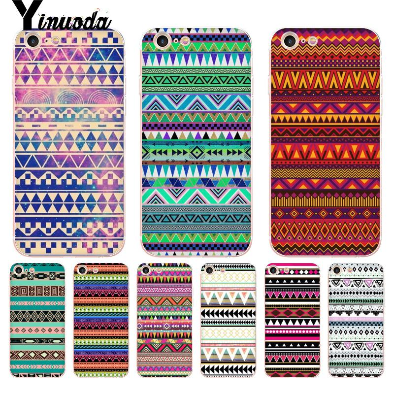 Yinuoda For iphone 7 6 X Case Triangle Strip Wallpaper Patterns Coque Shell Phone Case for iPhone 8 7 6 6S Plus X 5 5S SE XS XR image