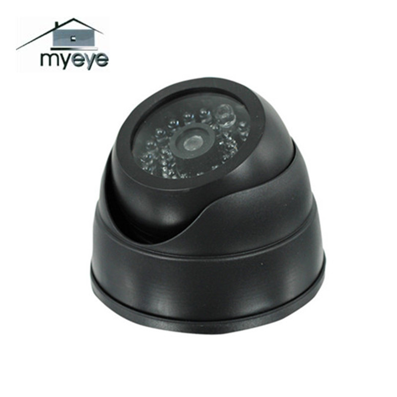 Myeye Dummy Camera Dome Fake Camera With LED Lights Waterproof Indoor Outdoor CCTV Dome Dummy Camera