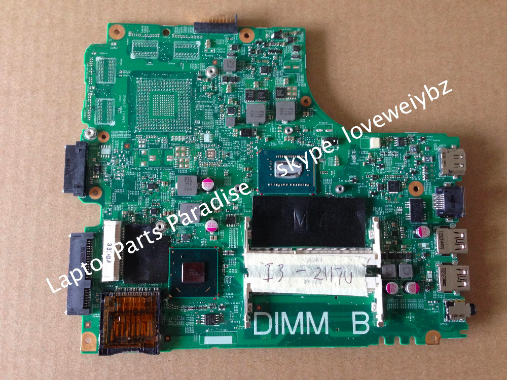 Factory stock Original For Dell Inspiron 14 3421 5421 Laptop motherboard 05HG8X with I3-3217 CPU