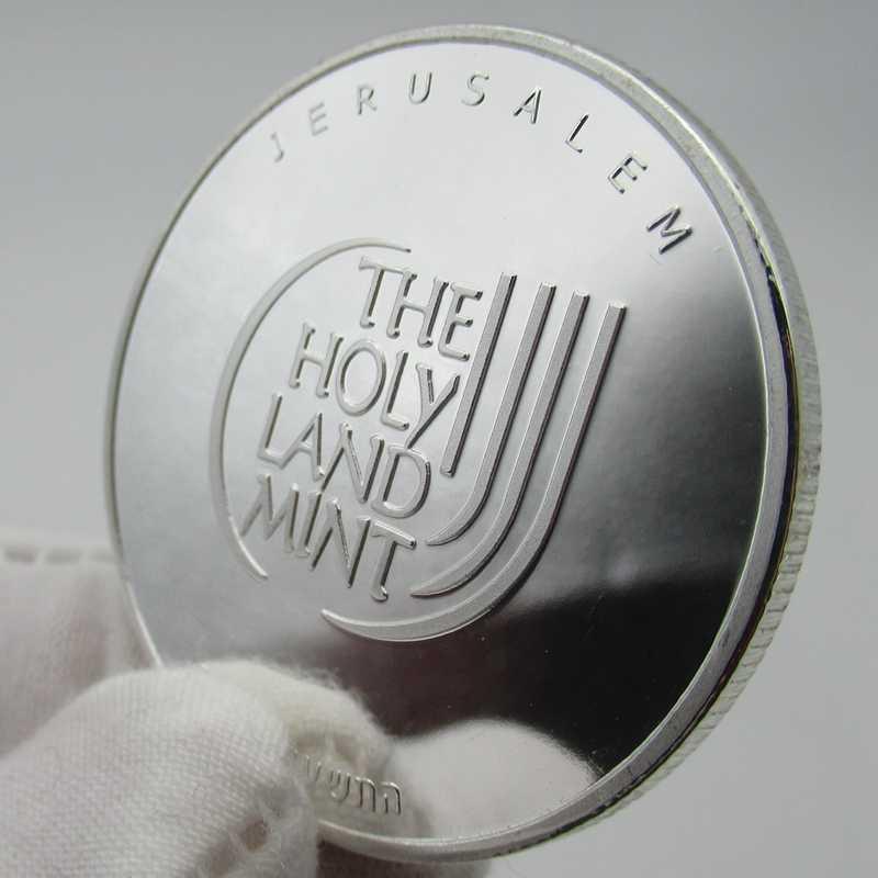 Сувенирные медали из нержавеющей стали с серебряными монетами голубь мира