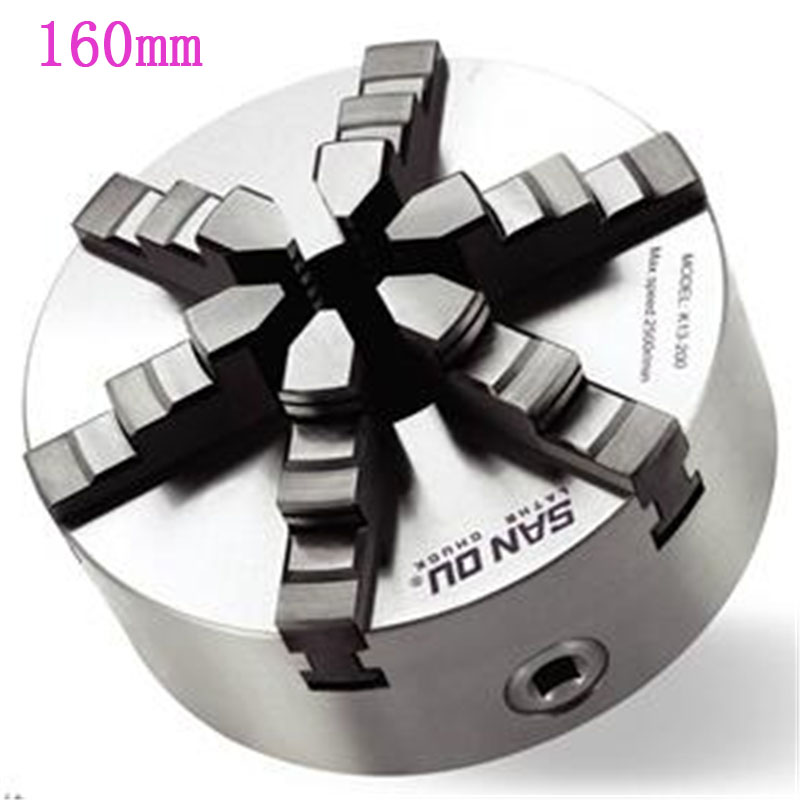160mm 6 Jaw Lathe Chuck Self-Centering Chuck 6'' 6  Plain Back Hardened Steel For CNC Milling Lathe Machine Lathe Chuck