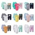 2016 новых комплектов одежды детская одежда девочка и мальчик 3 шт. трико ребенка комбинезон розничная BCS111