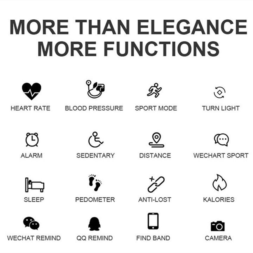 Image 3 - ASKMEER H8 женские Смарт часы фитнес Браслет спортивный водонепроницаемый монитор сердечного ритма Bluetooth для IOS Android Smartwatch подарок для девочки-in Смарт-часы from Бытовая электроника on AliExpress - 11.11_Double 11_Singles' Day