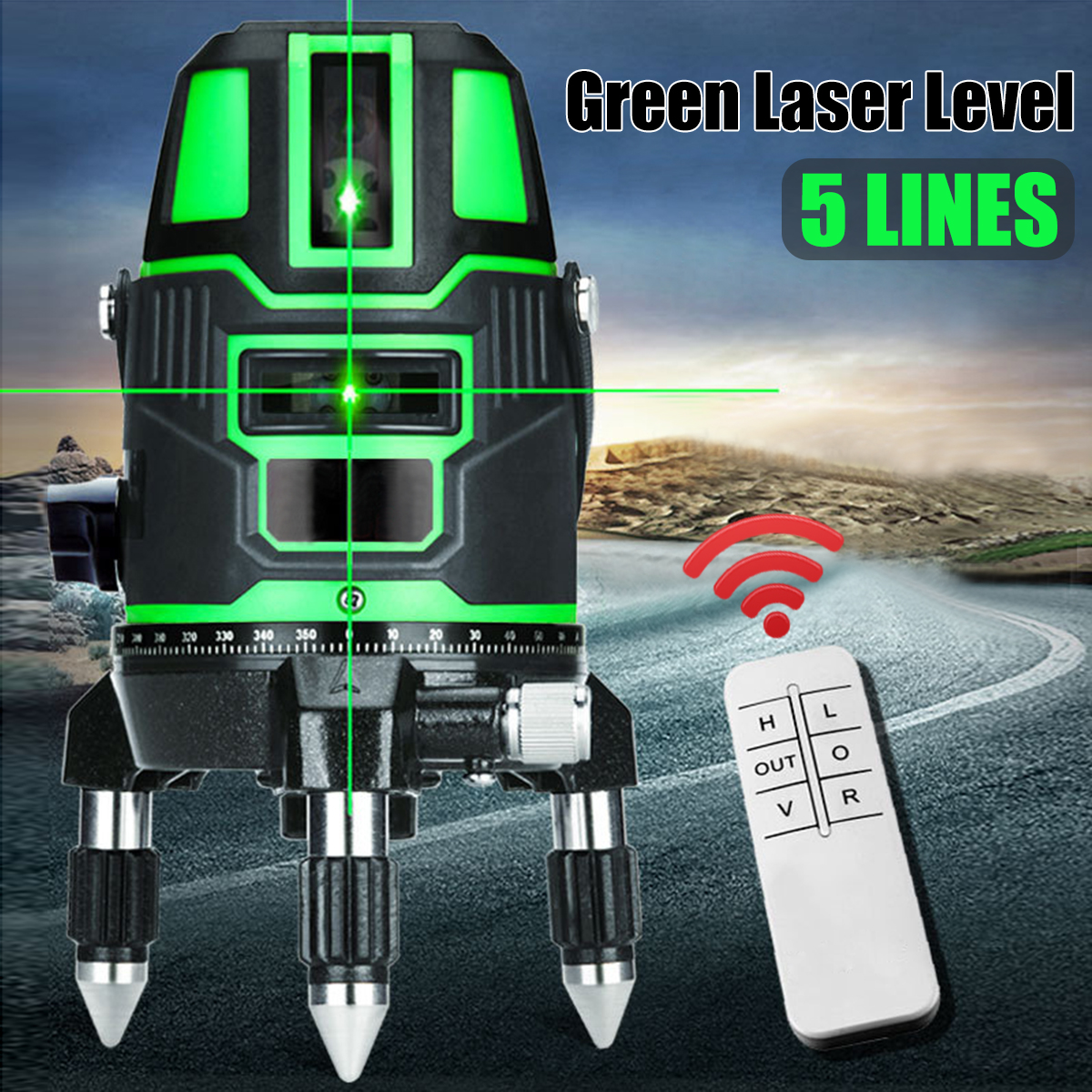 Green Laser Level 5 Lines 6 Points 360 Degrees Rotary Indoor Outdoor 635nm Corss Line Lazer Level Points Level Self Levelling firecore a8846 mini 4 lines 360 degrees red laser level auto self levelling in the range of 3 degrees