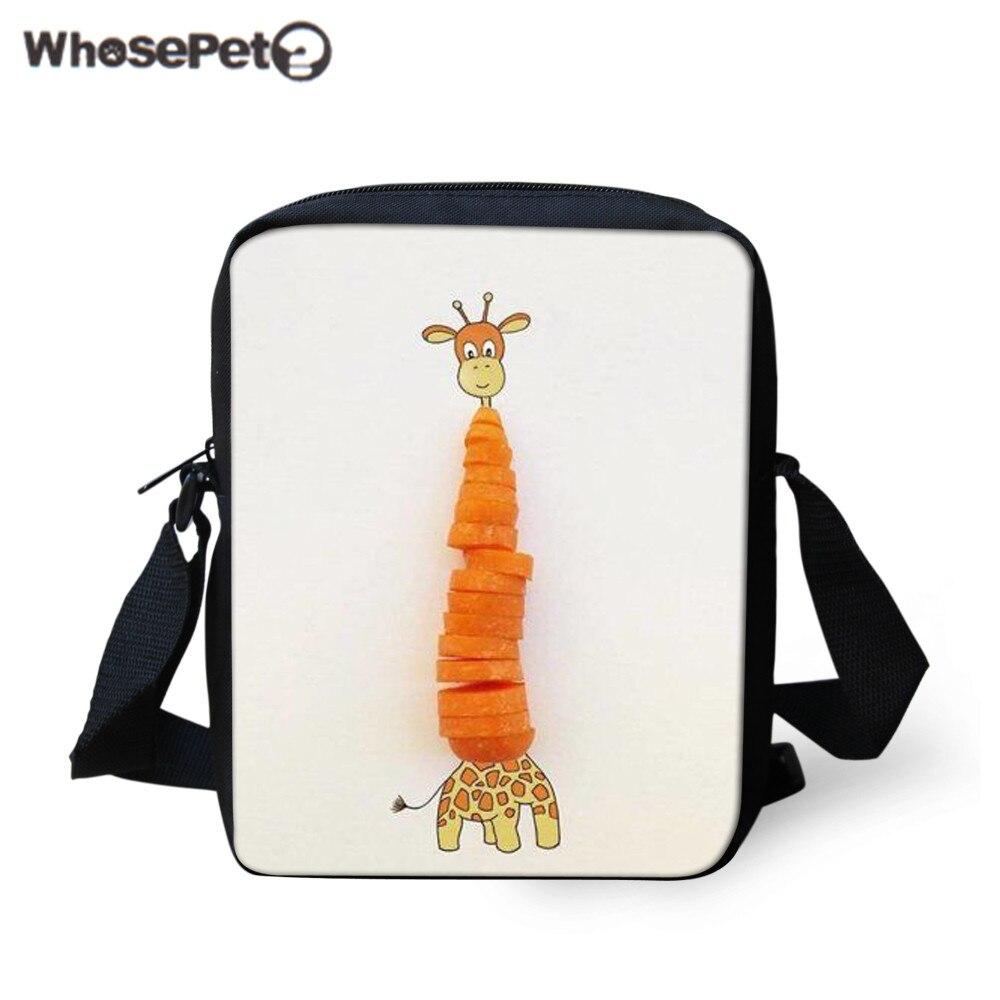 WHOSEPET Giraffe Crossbody Bag Women Cute Mesenger Bags Designer Hand Bags For Girl Casual Small Kids Shoulder Bag High Quality