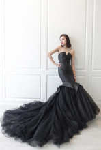 vestido de festa Sexy Black Mermaid Tulle Long Evening Gown V-Neck Elegant Formal Prom Party Dresses Robe De Soiree 2019 vestidos de noche sexy deep 2019 open back mermaid satin split elegant long formal women evening dresses party prom dress gown
