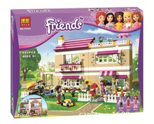 Model building kit compatible with lego city Girl Friend Olivia 's house 3D block Educational building toys hobbies for children