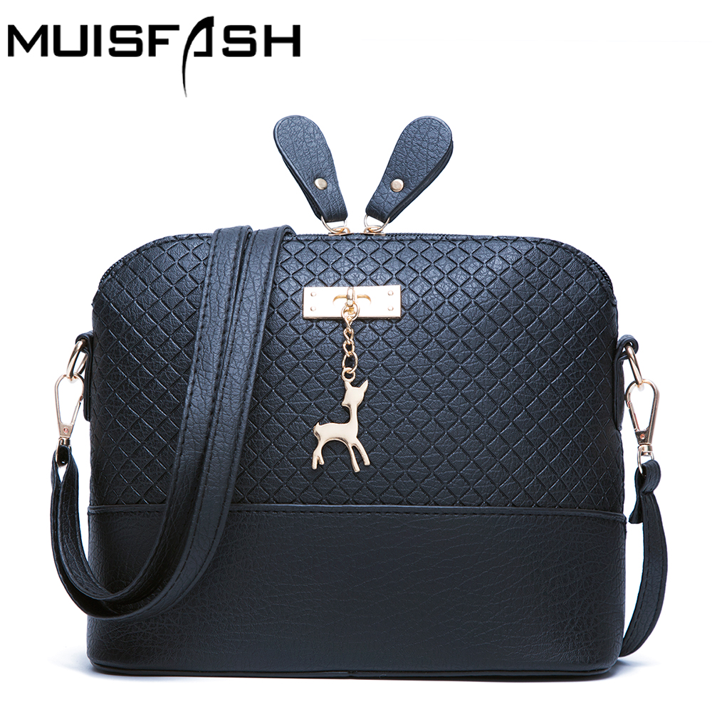 Good Quality Women Messenger Bags Leather Mini Bag With Deer Toy Small Shell Shape Shoulder Bags Women Handbag Bolsas LS1032 fashion women mini messenger bag pu leather shell shape bag crossbody shoulder bags with deer toy popular