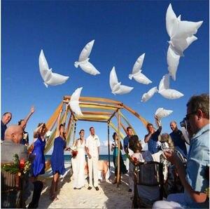 20pcs 104*54cm biodegradable Wedding Party decoration white dove balloon orbs peace bird balloon pigeons marriage helium balloon(China)