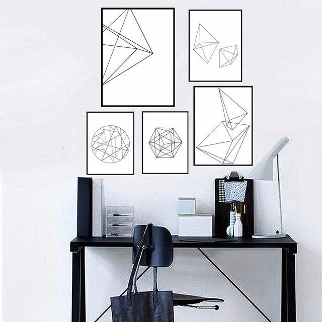 Abstrak Geometris Desain Grafis Dicetak Kanvas Lukisan Nordic