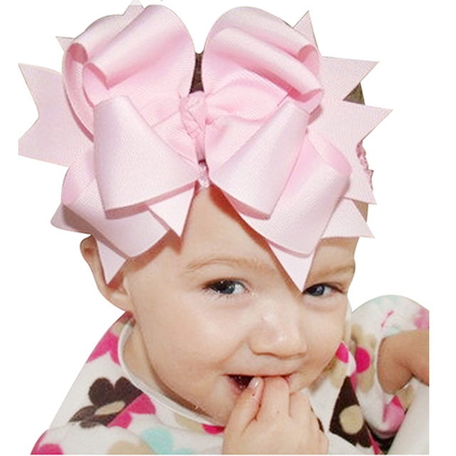 f50481cb60a10 1PC Children Big Bows Infant Baby Flower Headband Elastic Hair Headbands  Bows Hair Band Kids Children Hair Accessories HC070
