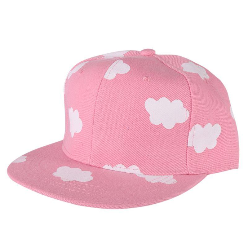 New Listed Fashion Street Woman Men Hip Hop Snapback Caps Cloud Pattern Adjustable Baseball Caps
