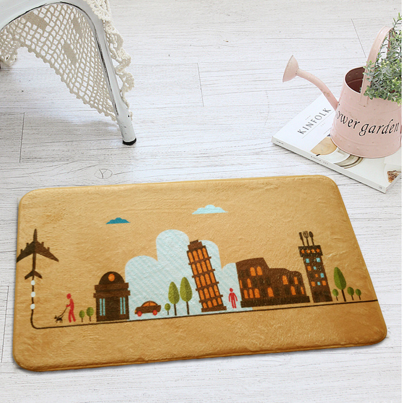 Simple Modern City IconTrend Style Carpets For Living Room Home Bedroom Rugs Carpets Coffee Table Brief Area Rug Kids Play Mat