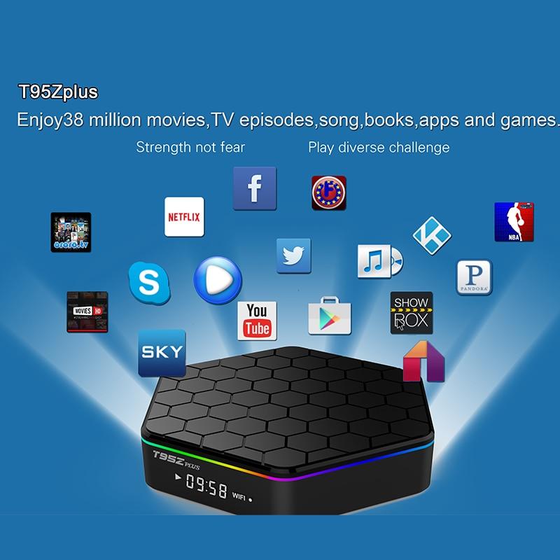 T95Z Plus Android 7.1 TV BOX 2G/3G 16G/32G Amlogic S912 Octa Core Suppot 2.4G/5GHz WiFi BT4.0 4K H.265 Media Player IPTV Box t95x amlogic s905x android 6 0 tv box 2g 8g 2g 16g quad core 100lan wifi h 265 16 1 full pre installed media player box