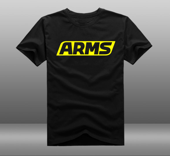 2017 Game ARMS Cotton O-Neck Printing Pattern Short Sleeve Mens Casual T-shirts Tee Shirts Tops Clothing