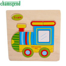 High Quality font b Wooden b font Cute Train Puzzle Educational Developmental Baby Kids Training Toy