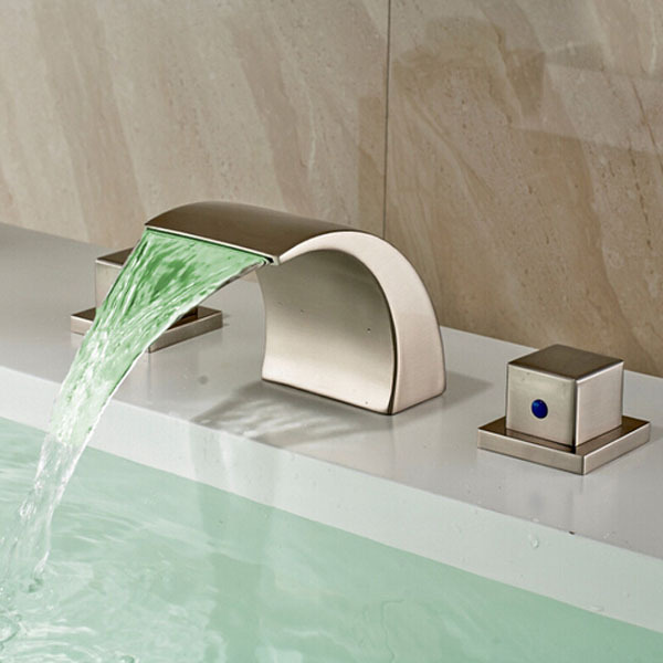 bathroom fixtures wholesale and retail promotion brushed nickel waterfall 10615