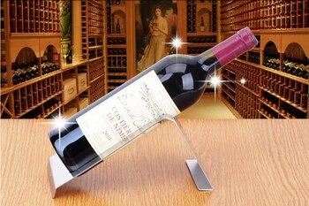 Simple rectangular stainless steel wine rack creative European bar wine holders