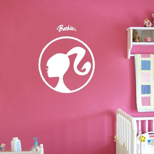Free Shipping Cute Barbie Wall Sticker Kid Room Bedroom Decor Mural ...