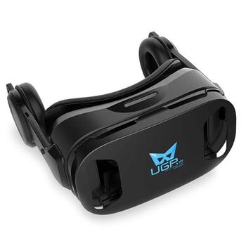 UGP U8 VR Glasses 3D Headset version IMAX Virtual Reality Helmet 3D Movie Games With Headphone 3D VR Glasses optional controller 2